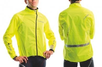 look veste coupe vent hml ultra jaune fluo