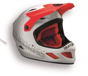 casque integral bluegrass explicit blanc rouge