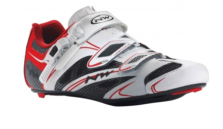 chaussures route northwave sonic srs blanc rouge