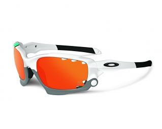 oakley lunettes special edition heritage racing jacket blanc fire iridium vented oo9