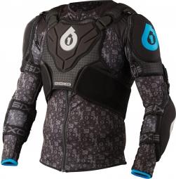 661 sixsixone 2015 veste evo pressure suit noir bleu cyan