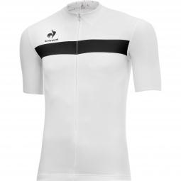 le coq sportif maillot manches courtes arac blanc noir