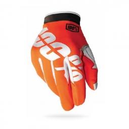 100 paire de gants itrack fire orange
