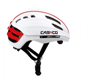 casco casque speedairo sans visiere blanc rouge
