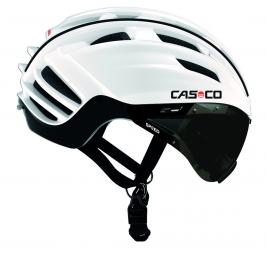 casco casco speedster con visera blanco negro