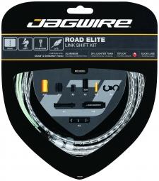 jagwire kit complet cables gaines road elite link derailleurs argent
