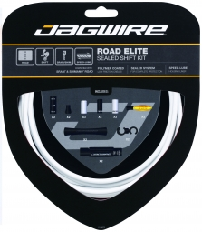 jagwire kit complet cables gaines road elite sealed derailleurs blanc