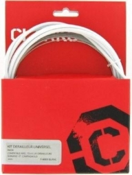 clarks kit cable gaine de derailleur blanc
