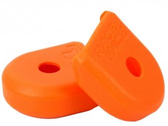 race face paire de proteges manivelles alu boot pedal orange