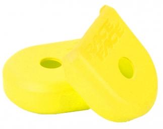 race face paire de proteges manivelles alu boot pedal jaune