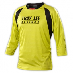 troy lee designs manches 3 4 ruckus spek lime