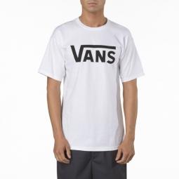 vans t shirt manches courtes classic blanc noir