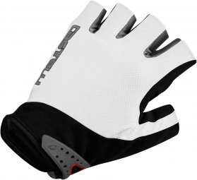 castelli paire de gants s uno glove blanc noir
