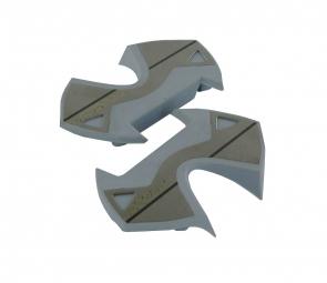 time plaques inox pour pedales x presso gris
