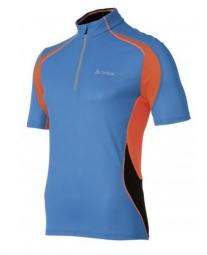 odlo maillot running manches courtes chip bleu noir orange