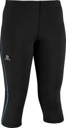salomon pantalon start 3 4 femme noir bleu