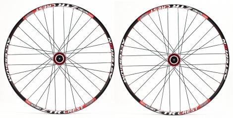 asterion paire de roues accessium xc 26 moyeux aivee mt3 axes 15mm av 9mm ar rouge