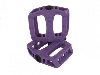 blb paire de pedales en plastique t rex violet
