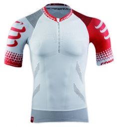 compressport trail t shirt blanc