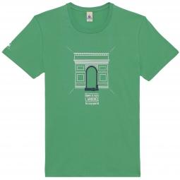 le coq sportif t shirt tour de france arc de triomphe vert