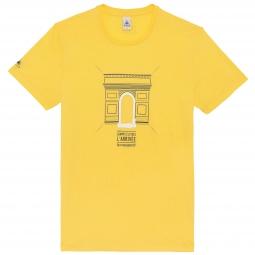 le coq sportif t shirt tour de france arc de triomphe jaune