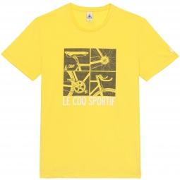 le coq sportif t shirt tour de france n 12 jaune