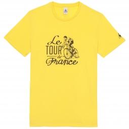 le coq sportif t shirt tour de france n 10 jaune