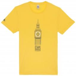 le coq sportif t shirt tour de france big ben jaune