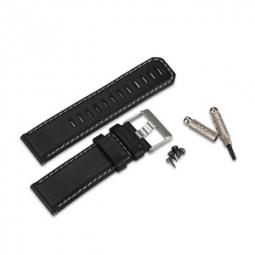garmin bracelet en cuir fenix noir