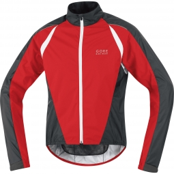 gore bike wear veste contest 2 0 windstopper as rouge noir blanc
