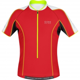 gore bike wear maillot manches courtes phantom 2 0 rouge