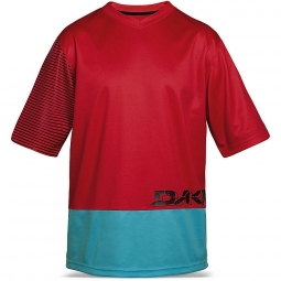 dakine maillot manches courtes vectra rouge