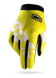 100 paire de gants itrack jaune fluo