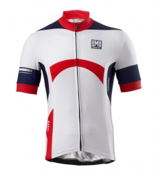 santini 2014 maillot manches courtes dragon blanc rouge
