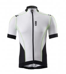 santini 2014 maillot manches courtes zero impact blanc noir