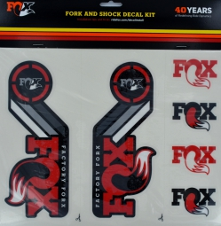 fox racing shox kit stickers heritage fourche et amortisseur rouge