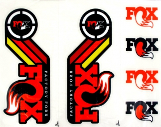 fox racing shox kit stickers heritage fourche et amortisseur orange