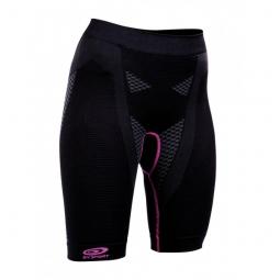 bv sport cuissard d effort femme nature 3r noir violet