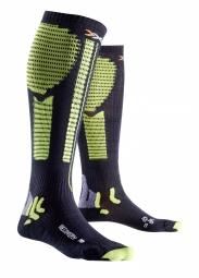 x bionic paire de chaussettes de recuperation effektor recovery noir vert