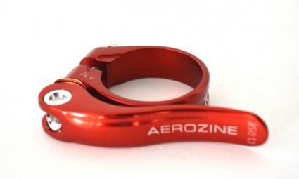 aerozine collier de selle a serrage rapide rouge
