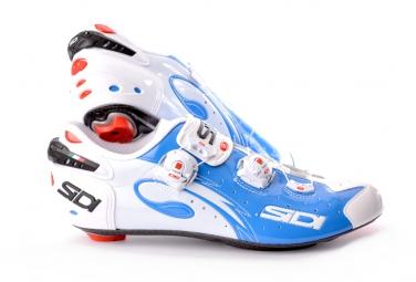 chaussures route sidi sidi wire 2015 blanc bleu