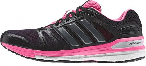 adidas chaussures supernova sequence boost noir rose femme