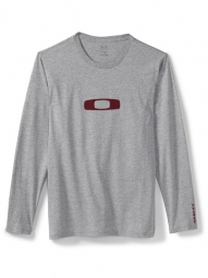 oakley tee shirt manches longues square o gris