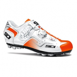 chaussures vtt sidi cape 2015 blanc orange fluo