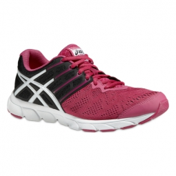 asics chaussures gel evation rose noir femme