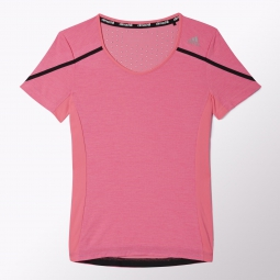 adidas t shirt adizero boston femme rouge