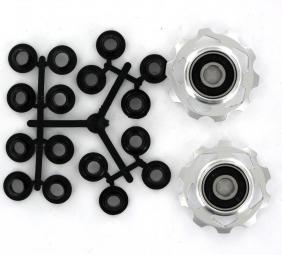 sb3 galets de derailleur anodises pour shimano ou sram silver x 2 10 dts