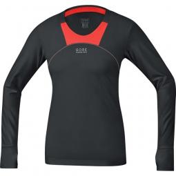 gore running wear maillot femme air 2 0 noir