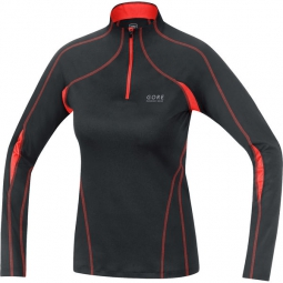 gore running wear maillot femme essential 2 noir