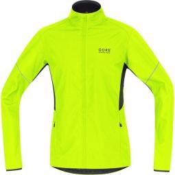 gore running wear veste essential windstopper jaune